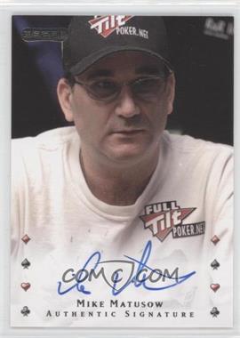 2010 Razor Poker - [Base] - [Autographed] #31 - Mike Matusow