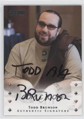 2010 Razor Poker - [Base] - [Autographed] #41 - Todd Brunson