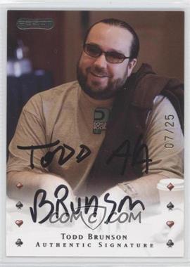 2010 Razor Poker - [Base] - Gold [Autographed] #41 - Todd Brunson /25