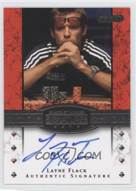 2010 Razor Poker - Bracelet Winner Signatures - [Autographed] #BH-21 - Layne Flack
