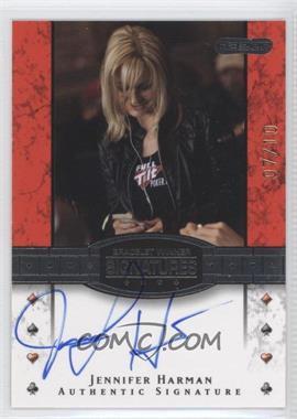 2010 Razor Poker - Bracelet Winner Signatures - Gold [Autographed] #BH-18 - Jennifer Harman /10