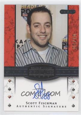 2010 Razor Poker - Bracelet Winner Signatures - Gold [Autographed] #BH-24 - Scott Fischman /10