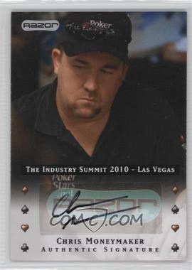 2010 Razor Poker - The Industry Summit 2010 Las Vegas - [Autographed] #LV-AU-CM - Chris Moneymaker