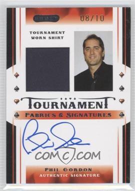 2010 Razor Poker - Tournament Fabrics & Signatures - Gold [Autographed] #TFS-6 - Phil Gordon /10