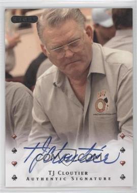 2010 Razor Poker [Autographed] #40 - Tj Cloutier