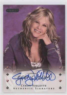 2010 Razor Poker [Autographed] #6 - Cyndy Violette