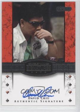 2010 Razor Poker Bracelet Winner Signatures [Autographed] #BH-13 - David Chiu