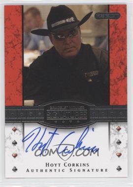 2010 Razor Poker Bracelet Winner Signatures [Autographed] #BH-16 - Hoyt Corkins