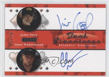 2010 Razor Poker Dual Signatures [Autographed] #DS-15 - Jamie Gold, Chris Moneymaker /50