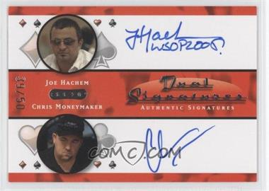 2010 Razor Poker Dual Signatures [Autographed] #DS-4 - Joe Hachem, Chris Moneymaker /50