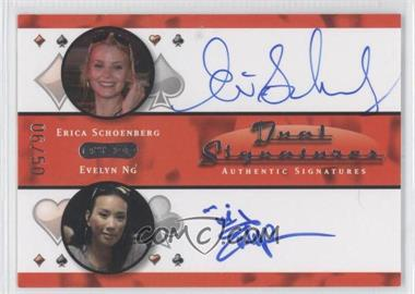 2010 Razor Poker Dual Signatures [Autographed] #DS-6 - Erica Schoenberg, Evelyn Ng /50