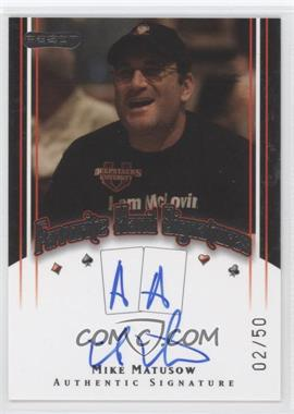 2010 Razor Poker Favorite Hand Signatures [Autographed] #FHS-35 - Mike Matusow /50
