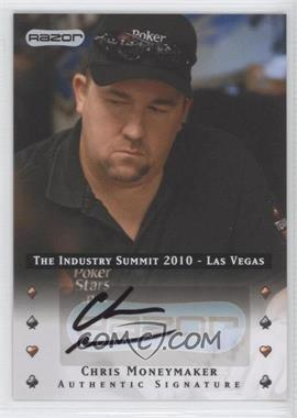 2010 Razor Poker The Industry Summit 2010 Las Vegas [Autographed] #LV-AU-CM - Chris Moneymaker