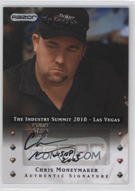 2010 Razor Poker The Industry Summit 2010 Las Vegas [Autographed] #LV-AU-CM - Chris Moneymaker