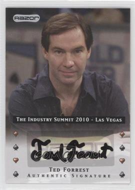 2010 Razor Poker The Industry Summit 2010 Las Vegas [Autographed] #LV-AU-TF - Ted Forrest
