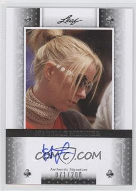 2011 Leaf Black Clubs #BA-IM1 - Isabelle Mercier /200