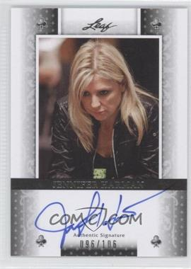 2011 Leaf Black Clubs #BA-JH1 - Jennifer Harman /106
