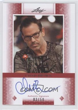2011 Leaf Red Diamonds #BA-CB1 - Chad Brown /50