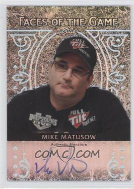 2012 Leaf Metal - Faces of the Game - Silver Prismatic #FA-MM2 - Mike Matusow /25