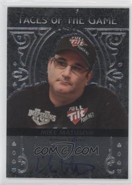 2012 Leaf Metal Faces of the Game #FA-MM2 - Mike Matusow