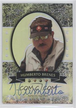 2012 Leaf Metal Silver Prismatic #MB-HB1 - Humberto Brenes /25