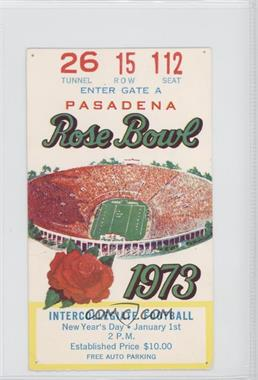 1902-Now Rose Bowl - Ticket Stubs #59 - 1973 (Southern California (USC) Trojans vs. Ohio State Buckeyes) [Good to VG‑EX]