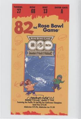 1902-Now Rose Bowl - Ticket Stubs #82 - 1996 (Southern California (USC) Trojans vs. Northwestern Wildcats)