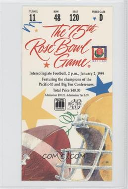 1902-Now Rose Bowl Ticket Stubs #75 - 1989 (Southern California (USC) Trojans vs. Michigan Wolverines)