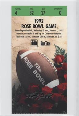1902-Now Rose Bowl Ticket Stubs #78 - 1992 (Washington Huskies vs. Michigan Wolverines) [Good to VG‑EX]