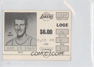 1969-70 Los Angeles Lakers Ticket Stubs #12-19 - Mel Counts