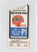 August 8 vs. Washington Redskins [Good to VG‑EX]