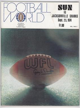 1974 Southern California Sun - Game Programs #9-25 - vs. Jacksonville Sharks