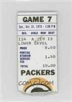 October 31 vs. Green Bay Packers