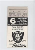 October 29 vs. San Diego Chargers [Good to VG‑EX]