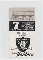 November 19 vs. Detroit Lions [GoodtoVG‑EX]