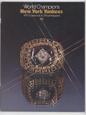 1979 New York Yankees - Scorebook and Official Magazine #NYYA - New York Yankees [GoodtoVG‑EX]