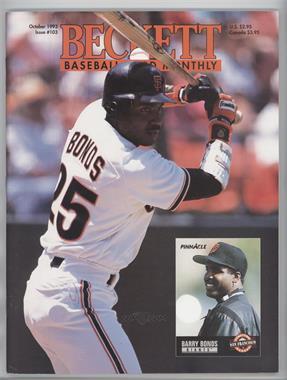 1984-Now Beckett Baseball - [Base] #103 - October 1993 (Barry Bonds) [GoodtoVG‑EX]