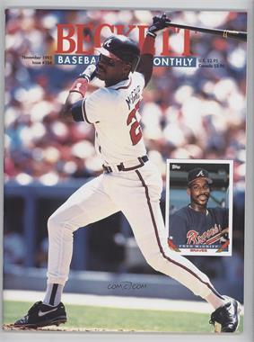 1984-Now Beckett Baseball - [Base] #104 - November 1993 (Fred McGriff)