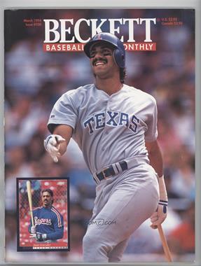 1984-Now Beckett Baseball - [Base] #108 - March 1994 (Juan Gonzalez)