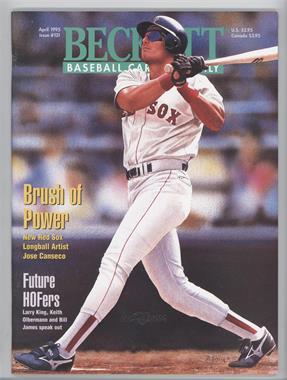 1984-Now Beckett Baseball - [Base] #121 - April 1995 (Jose Canseco)