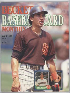 1984-Now Beckett Baseball - [Base] #37 - April 1988 (Benito Santiago) [GoodtoVG‑EX]