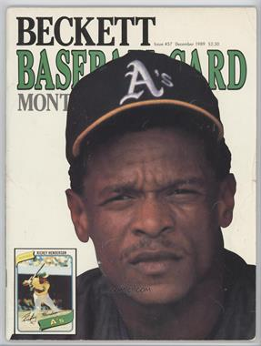 1984-Now Beckett Baseball - [Base] #57 - December 1989 (Rickey Henderson) [GoodtoVG‑EX]