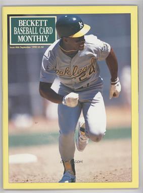 1984-Now Beckett Baseball - [Base] #66 - September 1990 (Rickey Henderson)