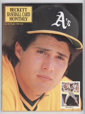 1984-Now Beckett Baseball - [Base] #67 - October 1990 (Jose Canseco)