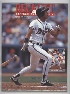1984-Now Beckett Baseball - [Base] #78 - September 1991 (David Justice)