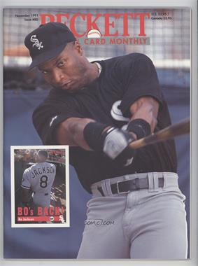 1984-Now Beckett Baseball - [Base] #80 - November 1991 (Bo Jackson)