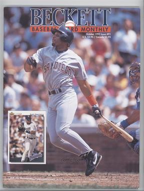1984-Now Beckett Baseball - [Base] #91 - October 1992 (Gary Sheffield) [GoodtoVG‑EX]