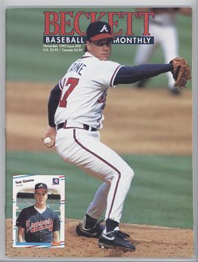 1984-Now Beckett Baseball - [Base] #92 - November 1992 (Tom Glavine) [GoodtoVG‑EX]