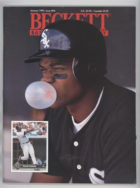 1984-Now Beckett Baseball - [Base] #94 - January 1993 (Frank Thomas)