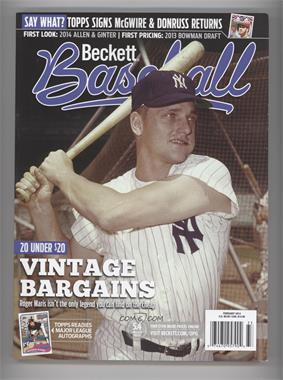 1984-Now Beckett Baseball #02-14 - February 2014 (Roger Maris)